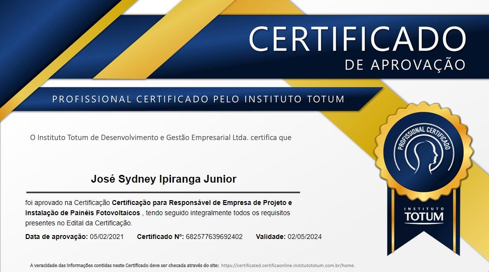 certificado instituto totum sydney ipiranga
